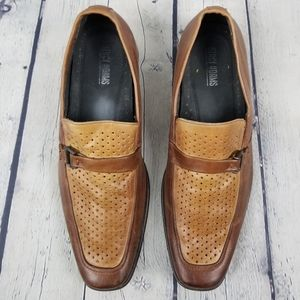 STACY ADAMS | slip-on perforated vamp loafer shoes